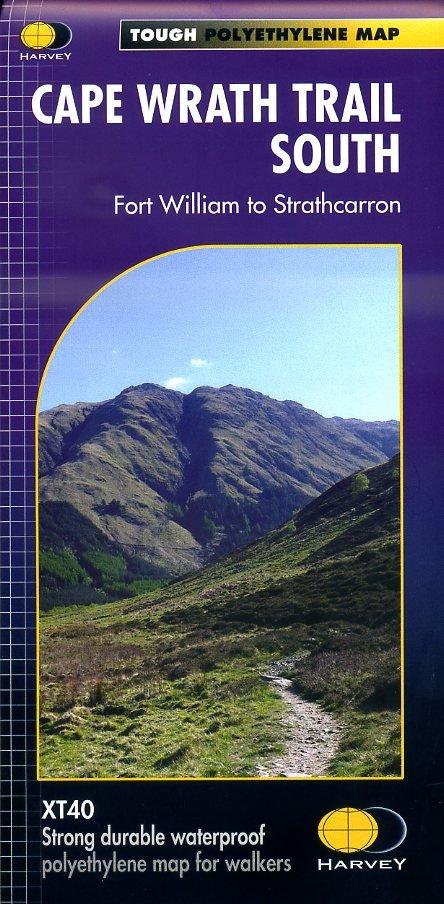 Cape Wrath Trail South | wandelkaart 1:40.000 9781851375349  Harvey Maps   Wandelkaarten, Meerdaagse wandelroutes Schotland