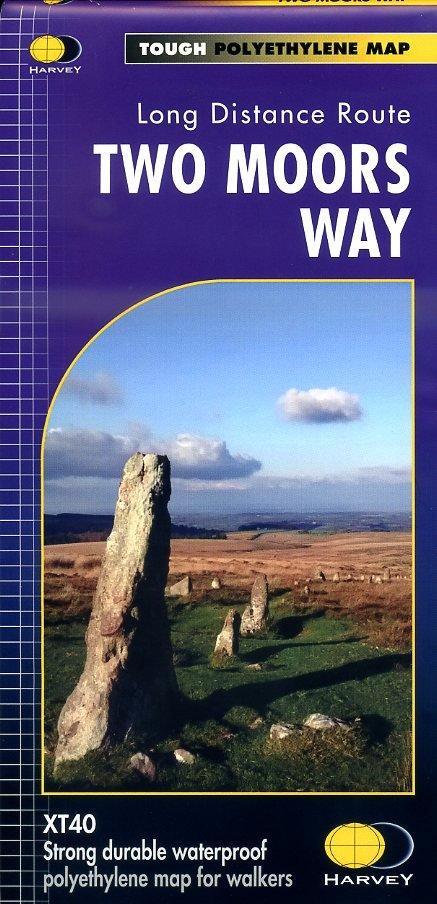 Two Moors Way | wandelkaart 1:40.000 9781851375431  Harvey Maps   Meerdaagse wandelroutes, Wandelkaarten Zuidwest-Engeland, Cornwall, Devon, Somerset, Dorset