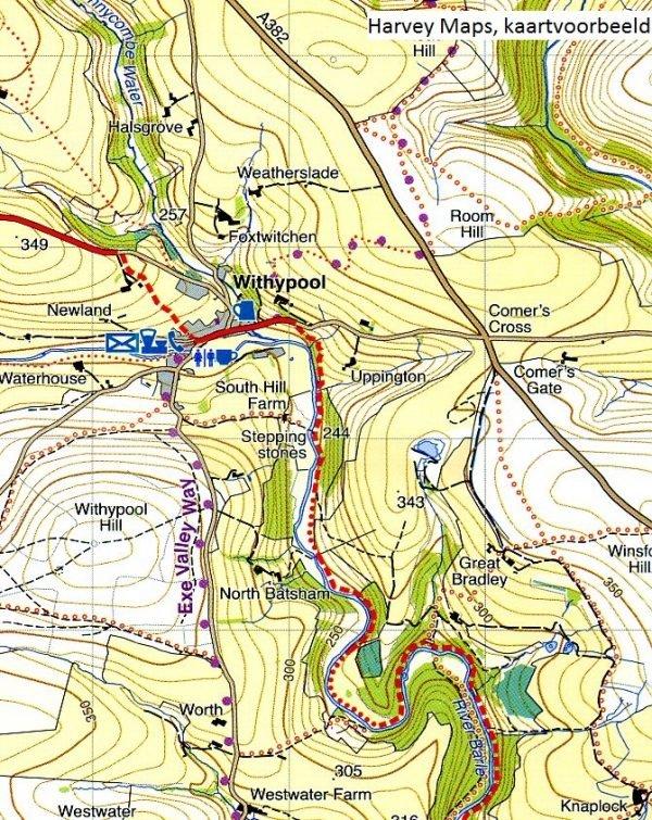 South West Coast Path (1) | wandelkaart 1:40.000 9781851375547  Harvey Maps   Meerdaagse wandelroutes, Wandelkaarten Zuidwest-Engeland