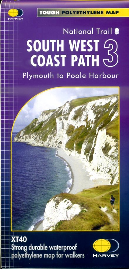 South West Coast Path (3) | wandelkaart 1:40.000 9781851375561  Harvey Maps   Meerdaagse wandelroutes, Wandelkaarten Zuidwest-Engeland