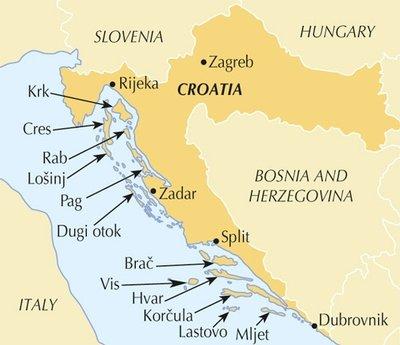 The Islands of Croatia | wandelgids 9781852847036  Cicerone Press   Wandelgidsen Kroatië