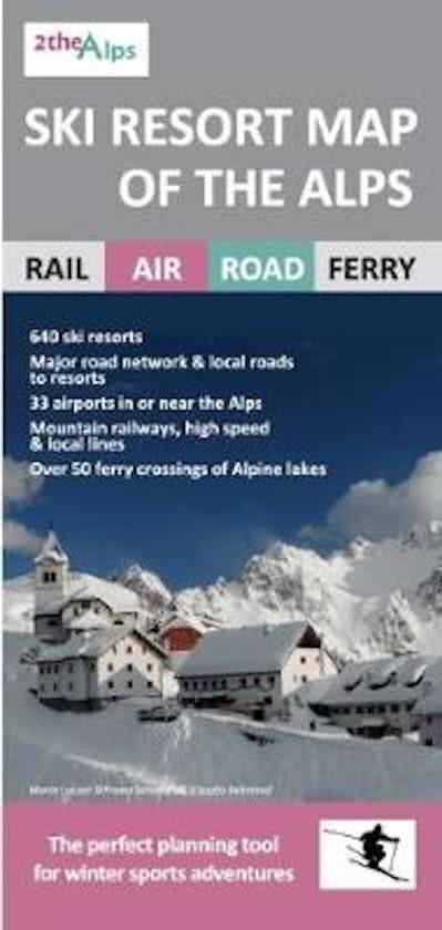 Ski Rail map of the Alps (skirailmap) 9781858797250  Lascelles   Landkaarten en wegenkaarten, Wintersport Zwitserland en Oostenrijk (en Alpen als geheel)