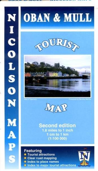 Oban & Mull Tourist Map 1:100.000 9781860973543  Nicolson   Landkaarten en wegenkaarten Schotland