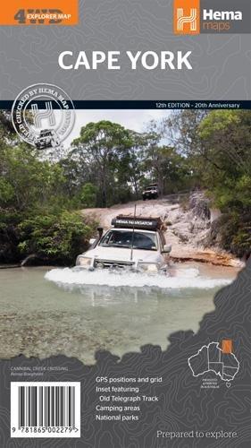 Cape York 1:1.000.000 9781865002279  Hema Maps   Landkaarten en wegenkaarten Australië