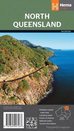 Queensland North 1:1.750.000 9781865007267  Hema Maps   Landkaarten en wegenkaarten Australië