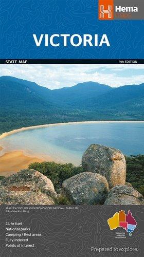 Victoria 1:850.000 9781865009834  Hema Maps   Landkaarten en wegenkaarten Australië