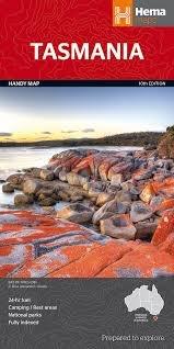 Tasmania 1:650.000 9781865009858  Hema Maps   Landkaarten en wegenkaarten Australië