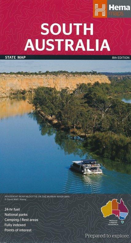 South Australia 1:1.800.000 9781865009865  Hema Maps   Landkaarten en wegenkaarten Australië