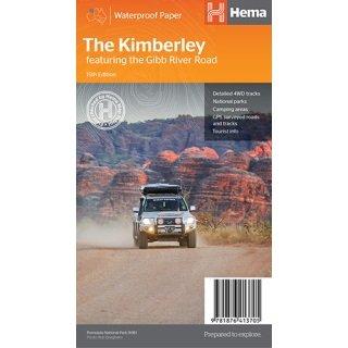 Kimberley | overzichtskaart 1:1milj. + inzetten 9781876413705  Hema Maps   Landkaarten en wegenkaarten Australië