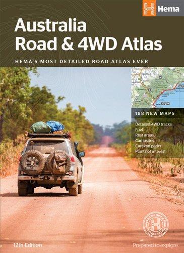 Australia Road Atlas 9781876413774  Hema Maps Wegenatlassen  Wegenatlassen Australië