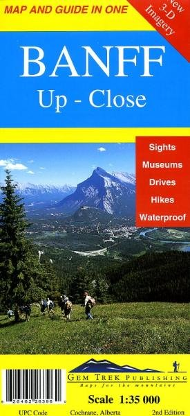 Banff up close  1:35.000, Explorer Map 9781895526394  Gem Trek Publishing Wandelkaarten Canada  Wandelkaarten West-Canada, Rockies