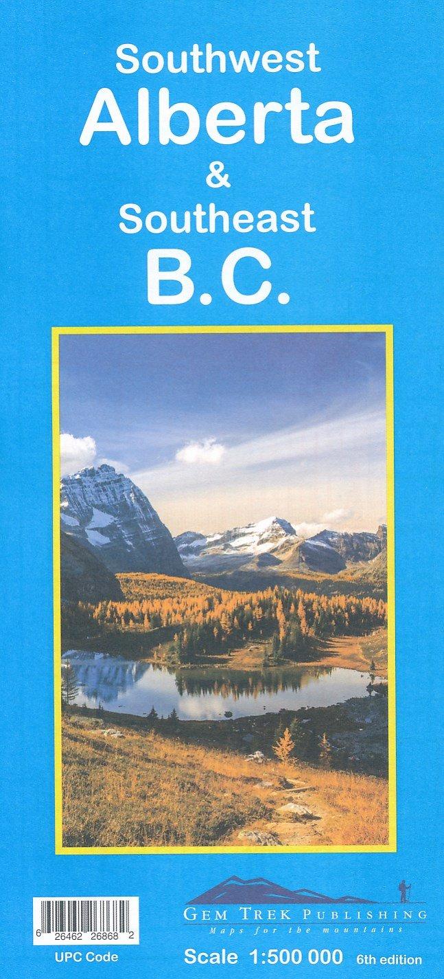 Southwest Alberta, Southeast British Columbia (2) 9781895526868  Gem Trek Publishing Explorer's Maps  Landkaarten en wegenkaarten West-Canada, Rockies