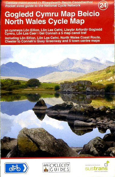 CCG24 North Wales Cycle Map 1:110.000 9781900623438  Cycle City Guides / Sustrans   Fietskaarten Noord-Wales, Anglesey, Snowdonia