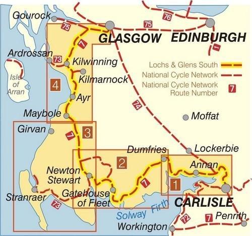 NN07B Lochs & Glens South  (TB 329) 9781901389333  Sustrans Nat. Cycle Network  Fietskaarten Schotland
