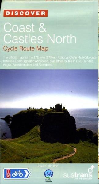 NN01D Coast & Castles North 9781901389753  Sustrans Nat. Cycle Network  Fietskaarten, Meerdaagse fietsvakanties de Schotse Hooglanden (ten noorden van Glasgow / Edinburgh)
