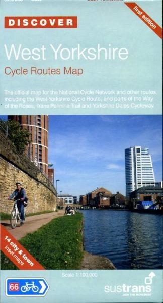 NN67  West Yorkshire Cycle Routes Map 9781901389852  Sustrans Nat. Cycle Network  Fietskaarten Noord-Engeland
