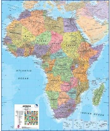 [05] Afrika 1:8.000.000 Political 9781903030837  MAPS International   Wandkaarten Afrika