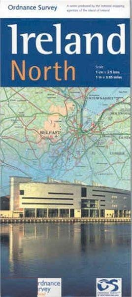 OSHM-1  Ireland North   landkaart - wegenkaart Noord-Ierland 1:250.000 9781905306619  Ordnance Survey Ireland Holiday Maps  Landkaarten en wegenkaarten Ierland Noord- en Oost, Dublin