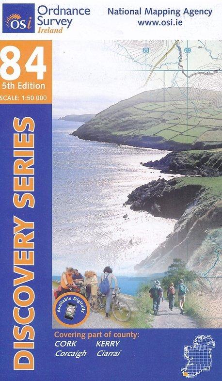DM-84  (parts of counties Cork, Kerry) 9781908852359  Ordnance Survey Ireland Discovery Maps 1:50.000  Wandelkaarten Ierland West- en Zuid