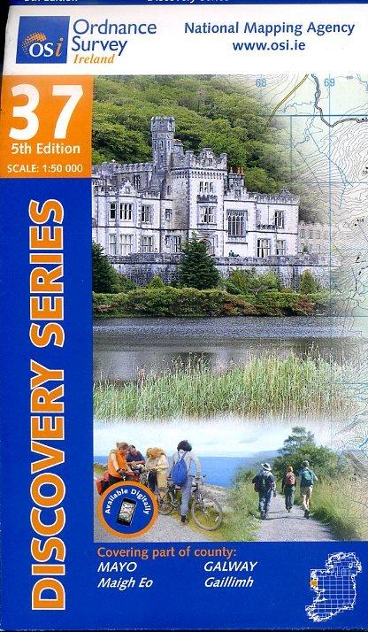 DM-37  Mayo Galway 9781908852441  Ordnance Survey Ireland Discovery Maps 1:50.000  Wandelkaarten Galway, Connemara, Donegal