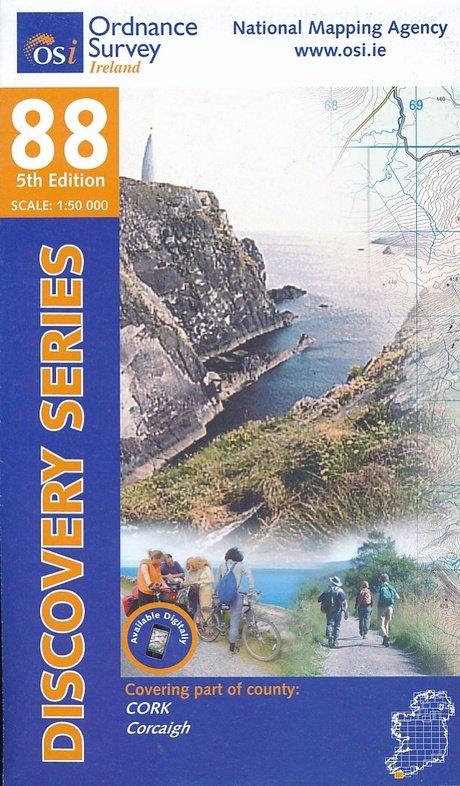 DM-88 9781908852571  Ordnance Survey Ireland Discovery Maps 1:50.000  Wandelkaarten Ierland West- en Zuid