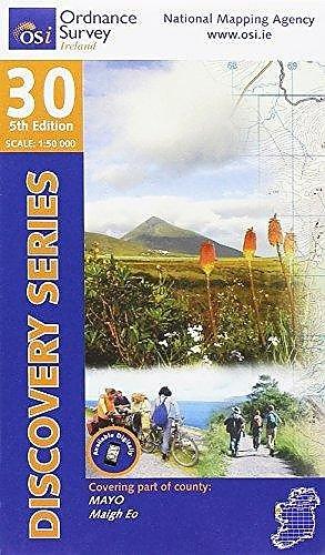 DM-30  Mayo - Clare Island 9781908852595  Ordnance Survey Ireland Discovery Maps 1:50.000  Wandelkaarten Galway, Connemara, Donegal
