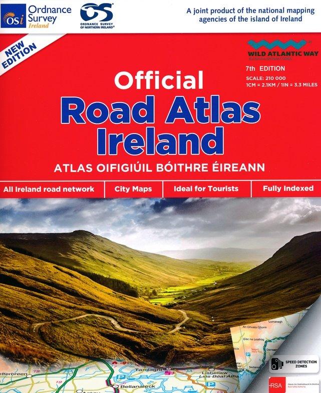 Ireland Roadatlas 1/210.000 9781908852830  Ordnance Survey Ireland Wegenatlassen  Wegenatlassen Ierland