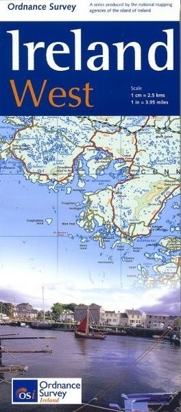 OSHM-2  Ireland West   landkaart - wegenkaart West-Ierland 1:250.000 9781908852878  Ordnance Survey Ireland Holiday Maps  Landkaarten en wegenkaarten Galway, Connemara, Donegal