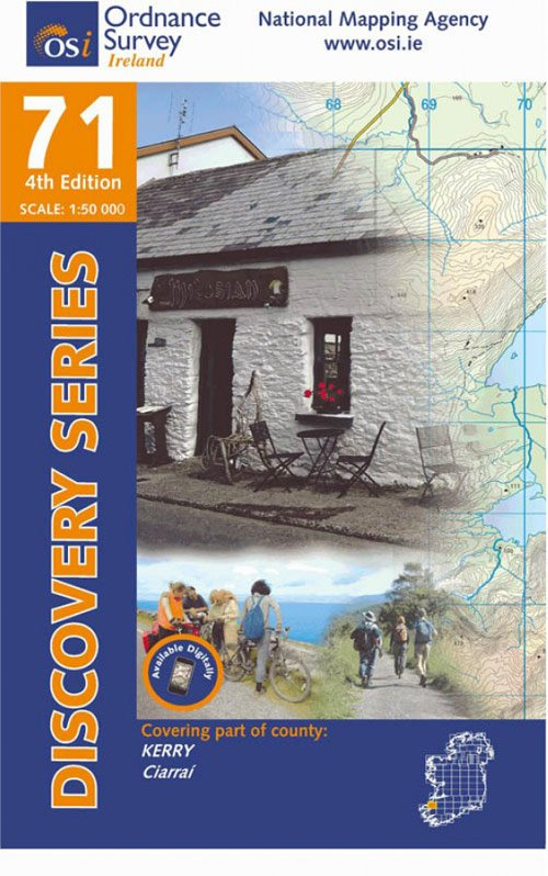 DM-71  Kerry (Tralee) 9781908852953  Ordnance Survey Ireland Discovery Maps 1:50.000  Wandelkaarten Munster, Cork & Kerry