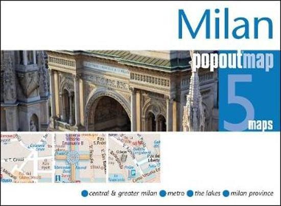 Milan pop out map 9781910218051  Insideout PopOut Maps  Stadsplattegronden Ligurië, Piemonte, Lombardije