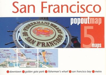 San Francisco pop out map 9781910218266  Insideout PopOut Maps  Stadsplattegronden California, Nevada