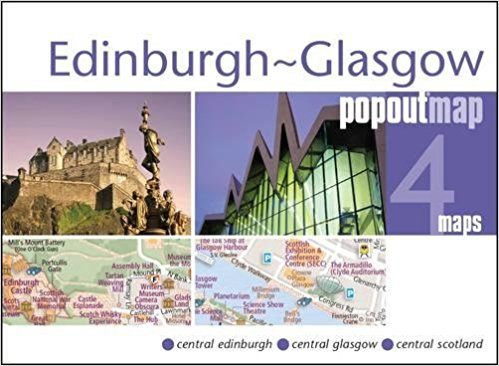 Glasgow + Edinburgh pop out map 9781910218365  Insideout PopOut Maps  Stadsplattegronden Schotland
