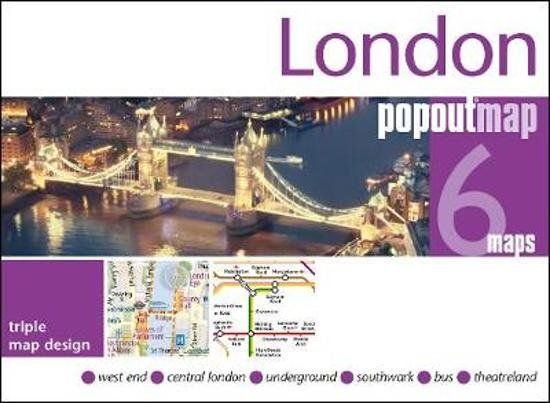 London pop out map 9781910218761  Insideout PopOut Maps  Stadsplattegronden Londen