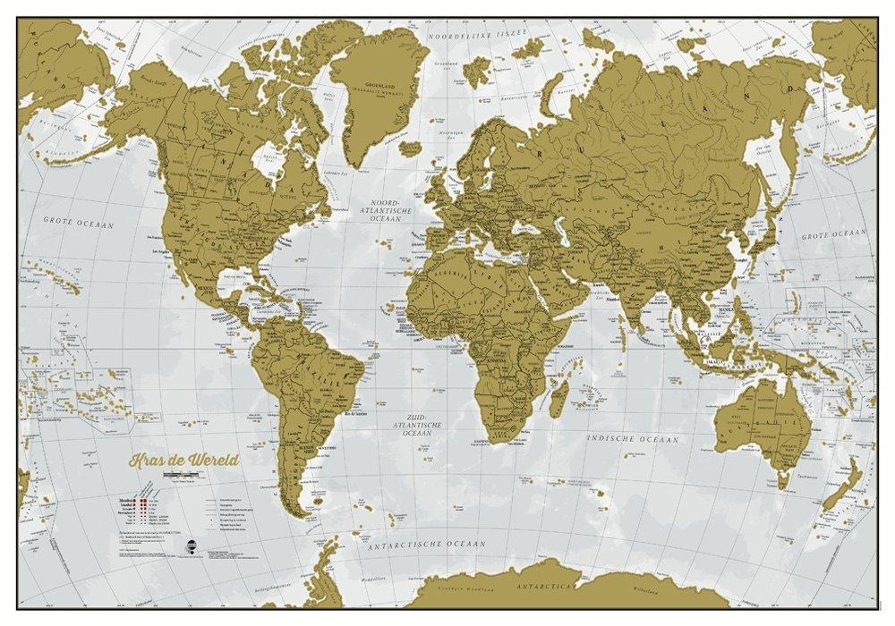 Scratch Map (Nederlandstalig) 9781910378700  MAPS International   Wandkaarten Wereld als geheel