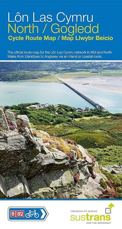 NN08 North: A  Lon Las Cymru North 9781910845493  Sustrans Nat. Cycle Network  Fietsgidsen, Fietskaarten, Meerdaagse fietsvakanties Noord-Wales, Anglesey, Snowdonia