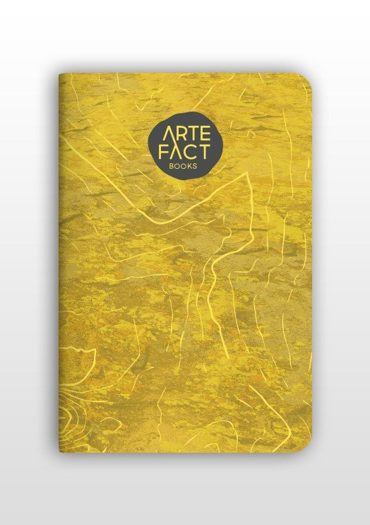 Reisdagboekje  / notitie boekje / watervast - okerkleurig 9781920566104  Artefact Books Reisdagboeken  Cadeau-artikelen, Reisverhalen Reisinformatie algemeen