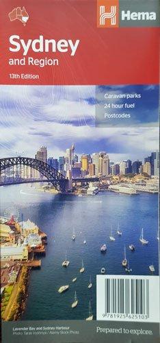 Sydney, stadsplattegrond plus omgevingskaart 9781925625103  Hema Maps   Stadsplattegronden Australië