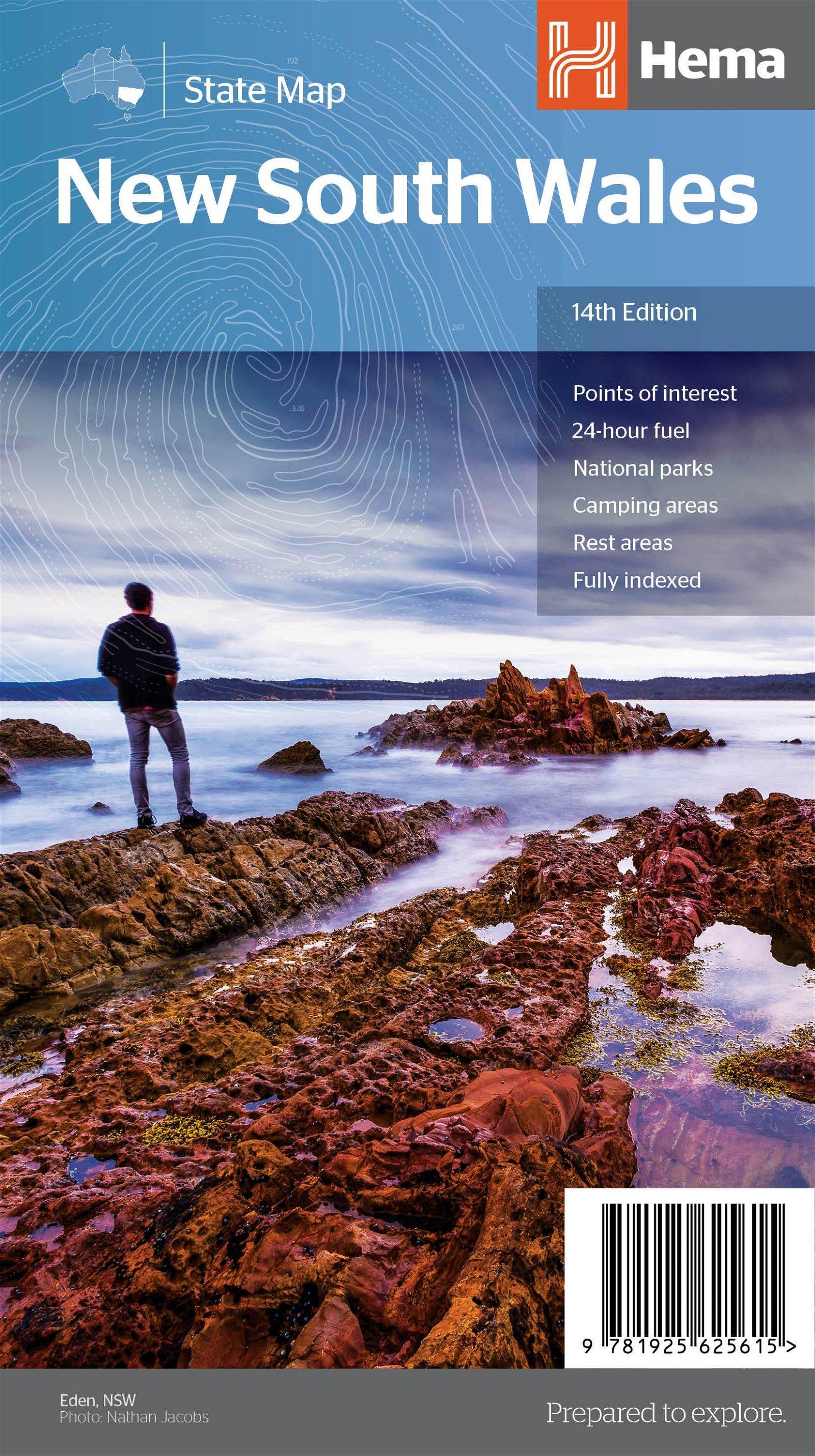 New South Wales 1:1.500.000 9781925625615  Hema Maps   Landkaarten en wegenkaarten Australië