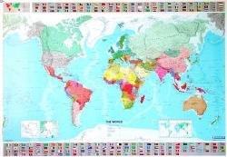 [08]  701 World (geplastificeerd) Wereldkaart 9782061010716  Michelin   Wandkaarten Wereld als geheel