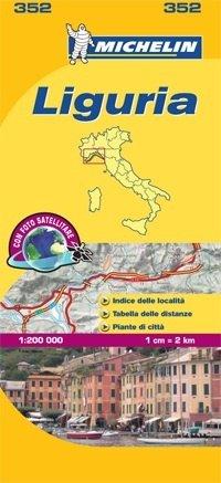 352 Liguria | Michelin  wegenkaart, autokaart 1:200.000 9782067127142  Michelin Michelin Italië 1:200.000  Landkaarten en wegenkaarten Ligurië, Piemonte, Lombardije