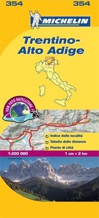 354 Trentino, Alto Adige | Michelin  wegenkaart, autokaart 1:200.000 9782067127166  Michelin Michelin Italië 1:200.000  Landkaarten en wegenkaarten Zuid-Tirol, Dolomieten