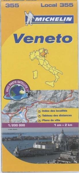 355 Veneto | Michelin  wegenkaart, autokaart 1:200.000 9782067127173  Michelin Michelin Italië 1:200.000  Landkaarten en wegenkaarten Zuidtirol, Dolomieten, Friuli, Venetië, Emilia-Romagna