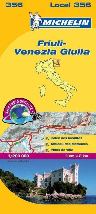 356 Friuli, Venezia Giulia | Michelin  wegenkaart, autokaart 1:200.000 9782067127180  Michelin Michelin Italië 1:200.000  Landkaarten en wegenkaarten Zuidtirol, Dolomieten, Friuli, Venetië, Emilia-Romagna
