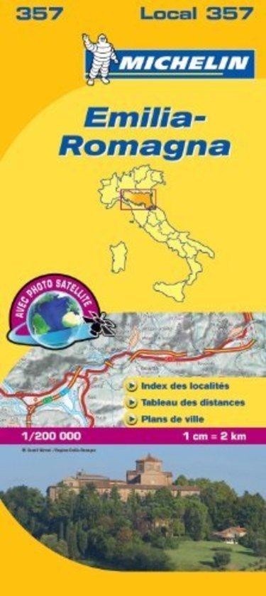 357 Emilia Romagna | Michelin  wegenkaart, autokaart 1:200.000 9782067127197  Michelin Michelin Italië 1:200.000  Landkaarten en wegenkaarten Zuidtirol, Dolomieten, Friuli, Venetië, Emilia-Romagna