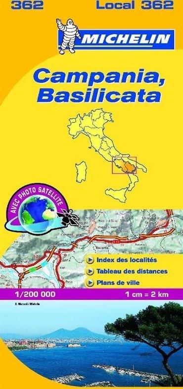 362 Campania, Basilicata | Michelin  wegenkaart, autokaart 1:200.000 9782067127241  Michelin Michelin Italië 1:200.000  Landkaarten en wegenkaarten Napels en Zuid-Italië