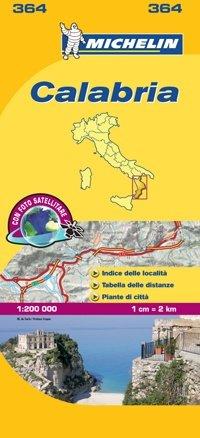 364 Calabria | Michelin  wegenkaart, autokaart 1:200.000 9782067127265  Michelin Michelin Italië 1:200.000  Landkaarten en wegenkaarten Napels en Zuid-Italië