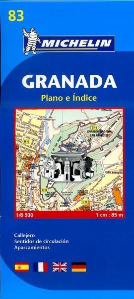 Granada 1:8.000 9782067127951  Michelin Stadsplattegronden  Stadsplattegronden Andalusië