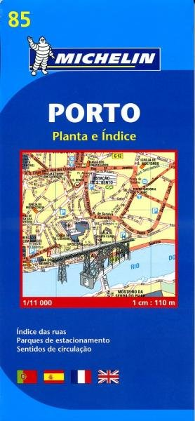 085 Porto 1:11.000 9782067127975  Michelin Stadsplattegronden  Stadsplattegronden Noord en Midden-Portugal, Lissabon