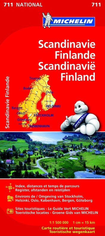 711 Scandinavië 1:1,5m 9782067170490  Michelin   Landkaarten en wegenkaarten Scandinavië & de Baltische Staten