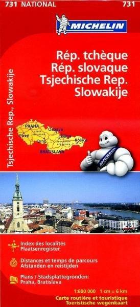 731 Tsjechie/Slowakije 1:600.000 9782067171817  Michelin   Landkaarten en wegenkaarten Tsjechië, Slowakije